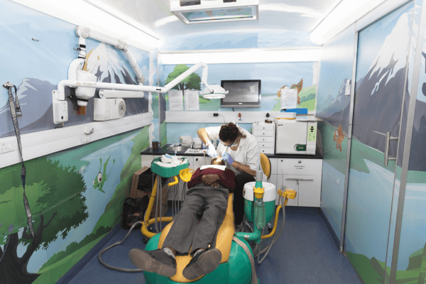 Dentistry section on the Wellness mobile clinic