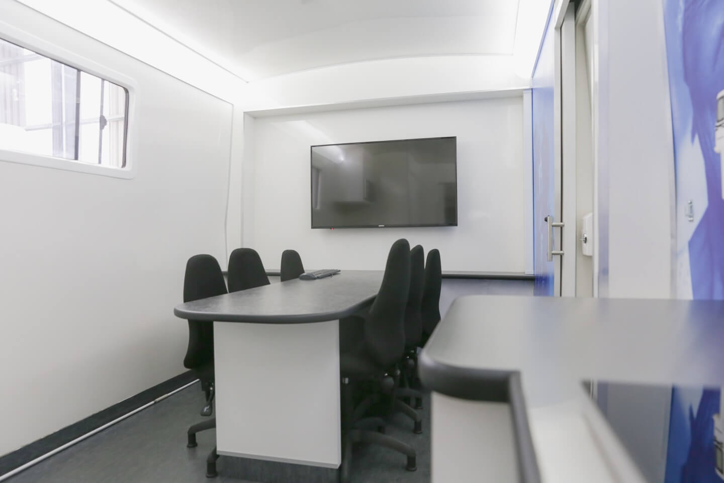 Board room in NHBRC mobile office
