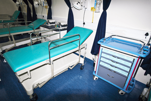 Interior of circumcision mobile clinic