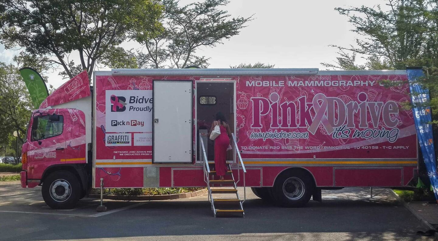 Pink drive mobile clinic