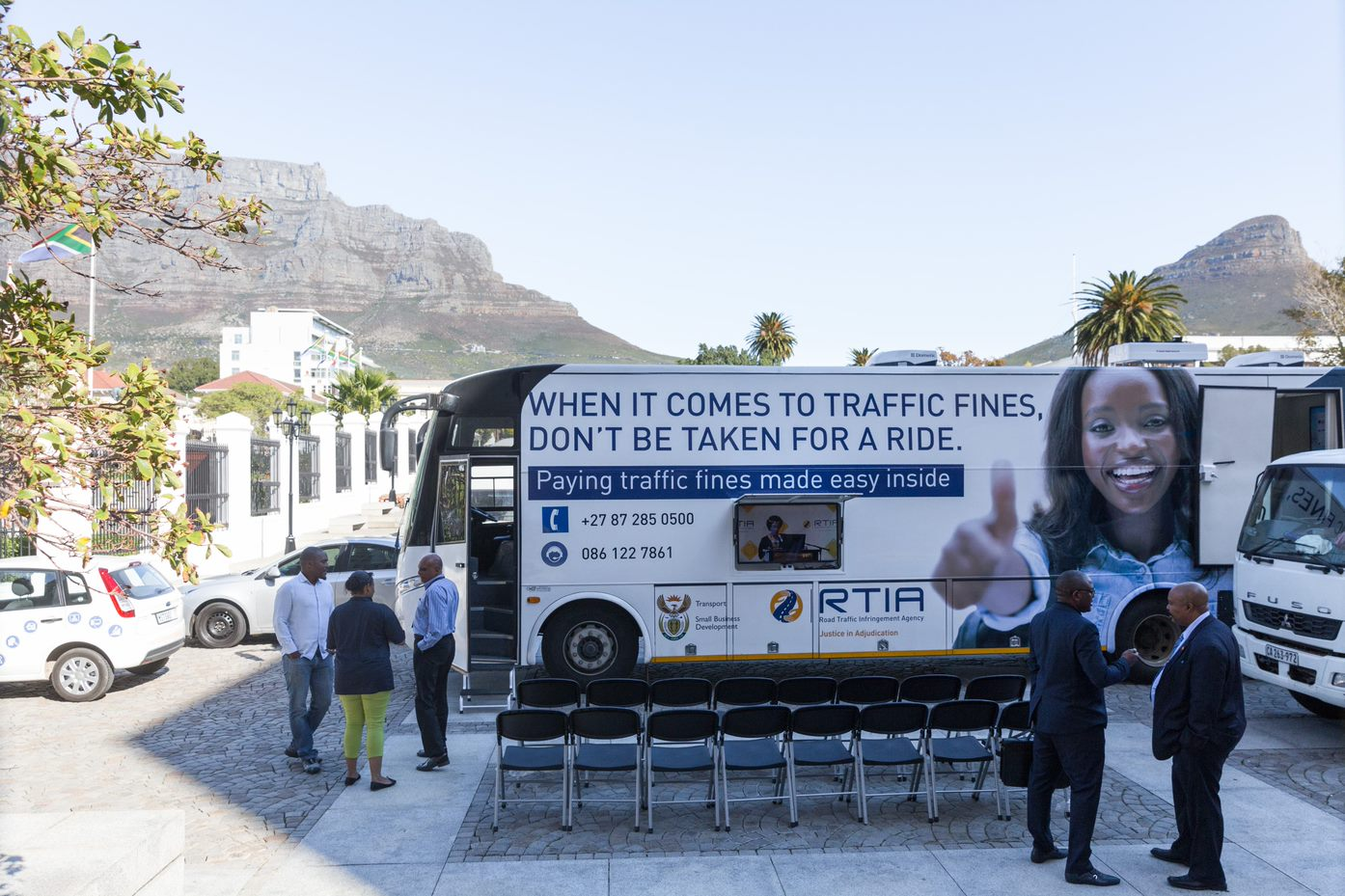 RTIA mobile offices at event