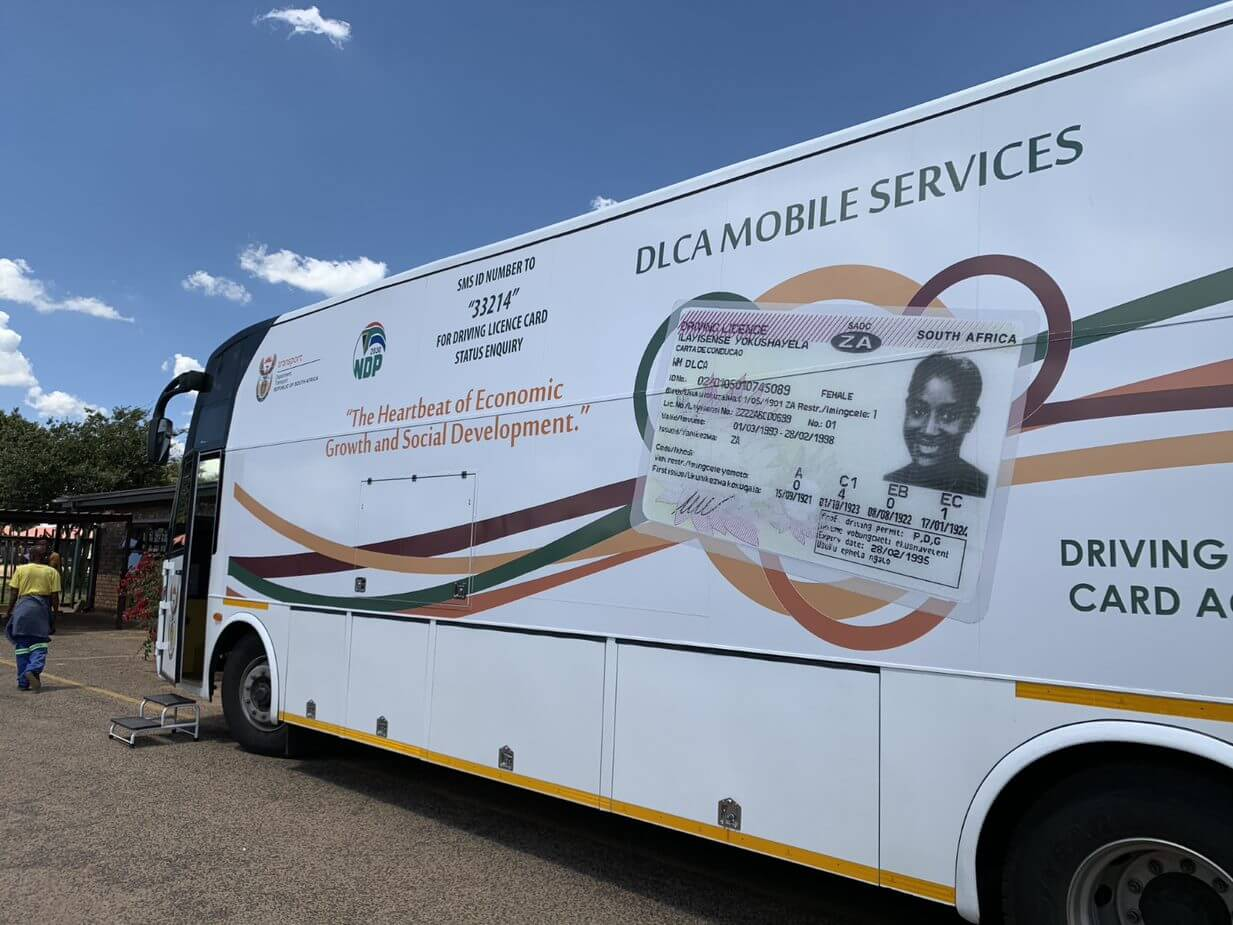 DLCA mobile services parked outside in a community